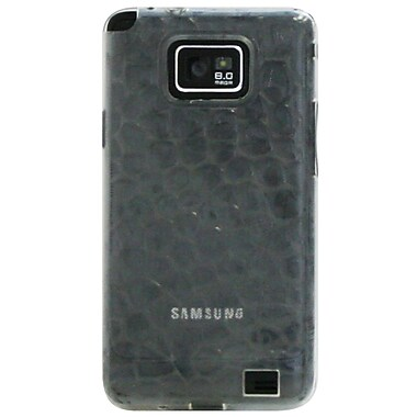 Exian Case for Galaxy S2, Silicon Transparent Bubble Pattern Clear