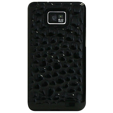 Exian Case for Galaxy S2, Silicon Transparent Bubble Pattern Grey
