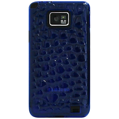 Exian Case for Galaxy S2, Silicon Transparent Bubble Pattern Blue