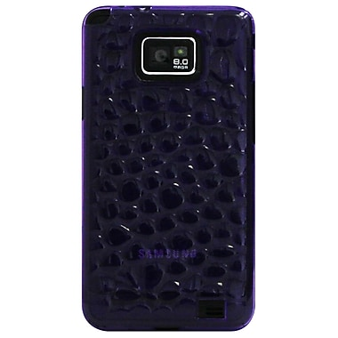 Exian Case for Galaxy S2, Silicon Transparent Bubble Pattern Purple