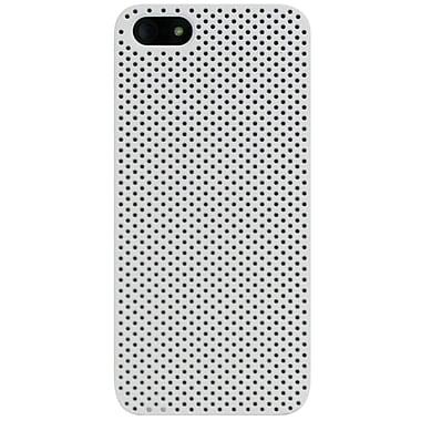 Exian – Étui troué pour iPhone 5/5s, blanc