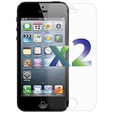 Exian iPhone 5 Screen Protector, 2 Piece, Clear