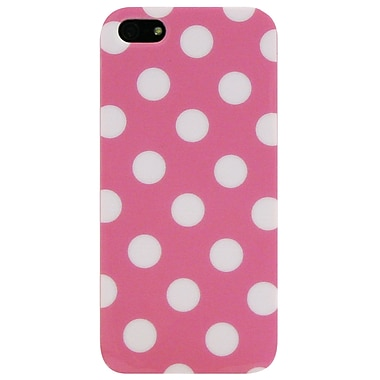 Exian iPhone SE/5/5s Case, Large Polka Dots Pink