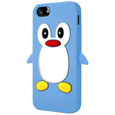 Exian iPhone SE/5/5s Penguin Case, Blue