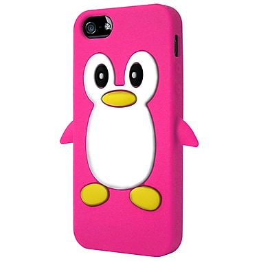 Exian iPhone SE/5/5s Penguin Case, Pink