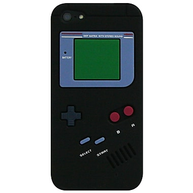 Exian – Étui pour iPhone 5/5s, style Gameboy, noir
