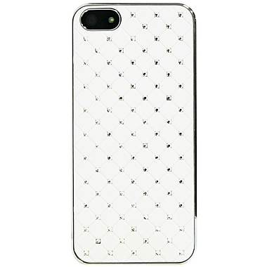 Exian iPhone SE/5/5s Case, Embedded Crystals White