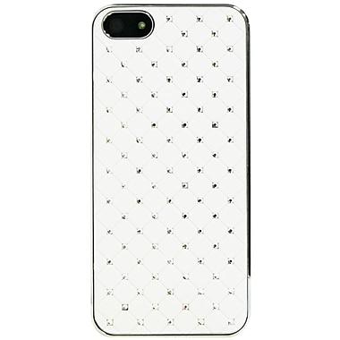 Exian – Étui avec cristaux incrustés pour iPhone 5/5s, blanc