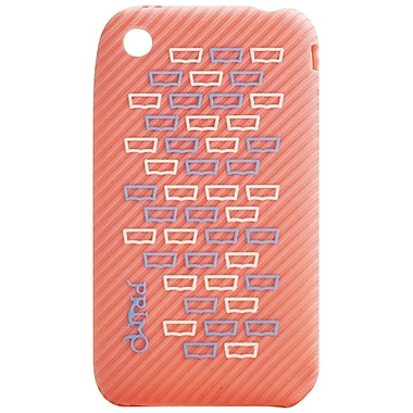 Exian iPhone 3G 3Gs Case, Pink with Squares