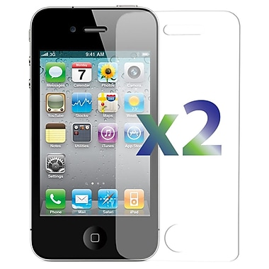 Exian SP4GClear 2 Piece iPhone 4/4s Screen Protector, Clear, 2 Piece