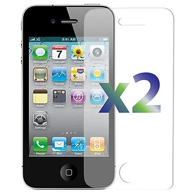 Exian – 2 protecteurs d'écran transparents SP4GClear pour iPhone 4/4s
