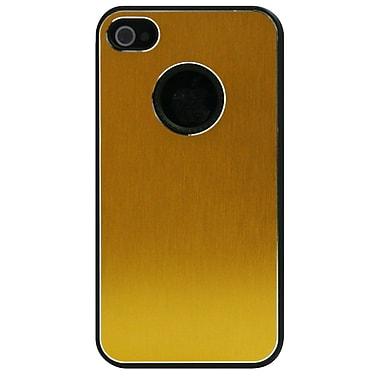 ExianMD – Étui pour iPhone 4/4s, sac à main doré métallique