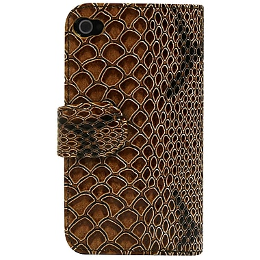Exian Brown iPhone 4/4s Case, Brown Snake Skin