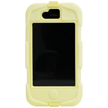 Exian iPhone 4/4s Case, Armoured Protector, with Belt Clip Yellow