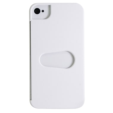 Exian iPhone 4/4s Case, Plain with Card Slot White