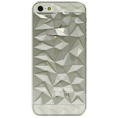 Exian – Étui à motifs de diamants bombés pour iPhone 5/5s, transparent