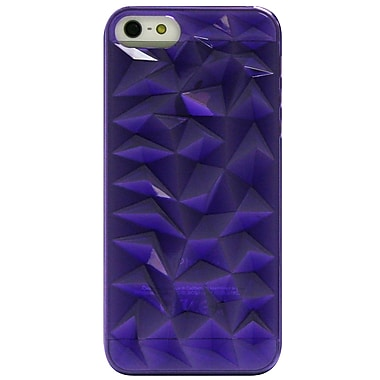 Exian iPhone SE/5/5s Case, 3D Diamond Pattern Purple
