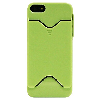 Exian iPhone SE/5/5s Case, Plain with Card Slot Green