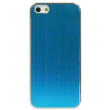 ExianMD – Étui pour iPhone 5, bleu métallique brossé