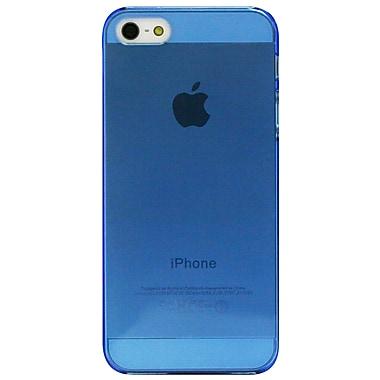Exian – Étui pour iPhone 5/5s, bleu transparent
