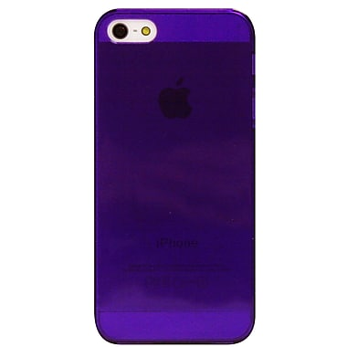Exian – Étui pour iPhone 5/5s, violet transparent