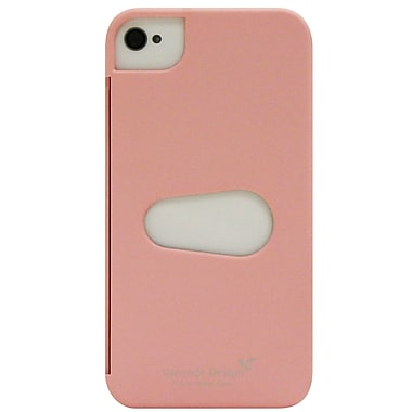 Exian iPhone 4/4s Case, Plain with Card Slot Pink