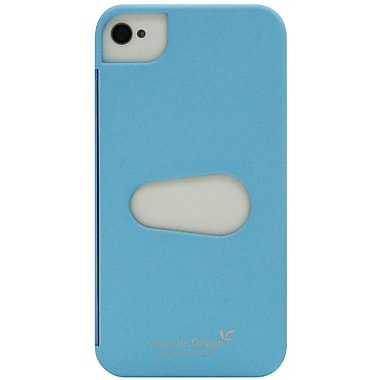 Exian iPhone 4/4s Case, Plain with Card Slot Blue