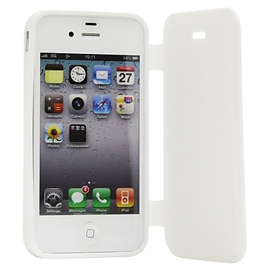 Exian iPhone 4/4s Case, TPU with Front Cover White