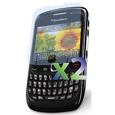 Exian – 2 protecteurs d'écran transparents pour BlackBerry Curve 8520