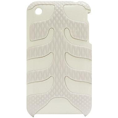 Exian – Étui pour iPhone 3G 3GS, blanc avec motifs d'arête de poisson