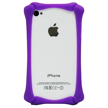 Exian – Étui pare-chocs en silicone pour iPhone 4/4s, motif os violet