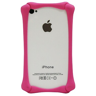 Exian Case for iPhone 4, Bone Bumper Pink