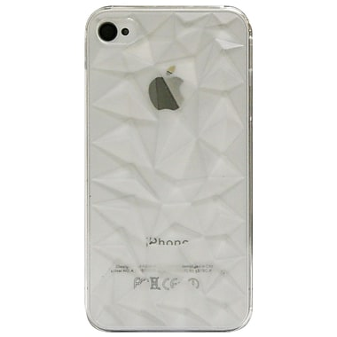 Exian iPhone 4/4s Case, 3D Diamond Pattern Clear