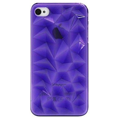 Exian Case for iPhone 4, Transparent Textured Purple