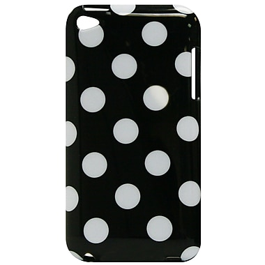 Exian iPod Touch 4 Case, Polka Dots Black