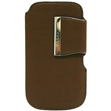 Exian P004 Universal Pouch, Brown with Magnetic Fastener