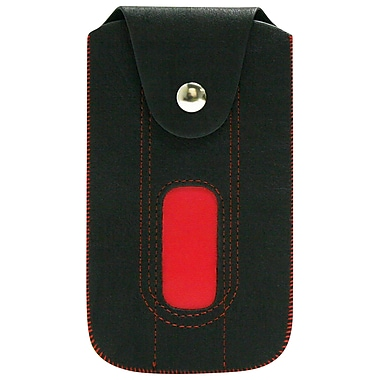Exian Universal Pouch, Black with Red Threading
