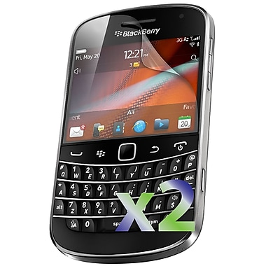 Exian Blackberry Bold 9900/9930 Screen Protector, 2 Piece, Clear