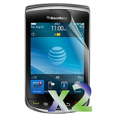 Exian Blackberry 9800/9810 Screen Protector, 2 Piece, Clear