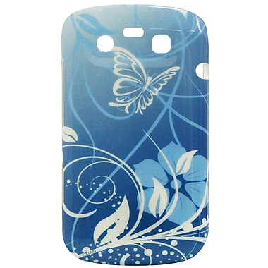Exian Case for Blackberry Bold 9790, Butterflies & Flowers Blue