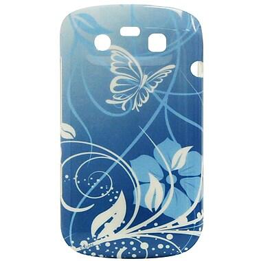 Exian – Étui avec fleurs et papillons pour BlackBerry Bold 9790, bleu