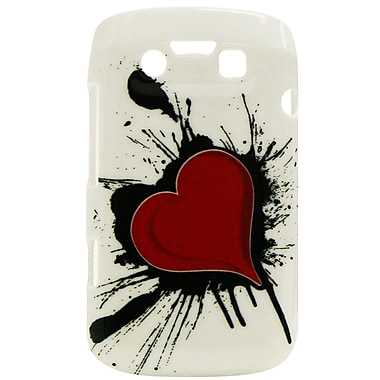 Exian Case for Blackberry Bold 9790, Heart on Ink