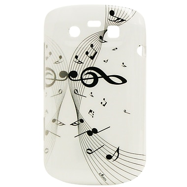 Exian Case for Blackberry Bold 9790, Musical Notes, White
