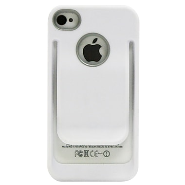 Exian iPhone 4/4s Case, Belt Clip White
