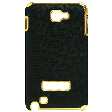 Exian Case for Galaxy Note, Black Hexagons with Gold Sides