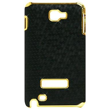 Exian – Étui à motif d'hexagones noirs et contours dorés pour Galaxy Note