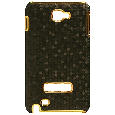 Exian Case for Galaxy Note, Metallic Brown with Gold Sides