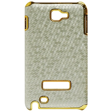 Exian Case for Galaxy Note, Metallic Silver with Gold Sides