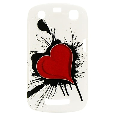Exian Case for Blackberry Curve 9360, Heart on Ink
