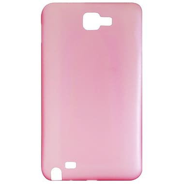 Exian Case for Galaxy Note, Frosted Transparent Red